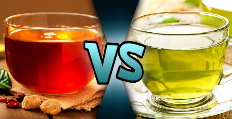 red tea vs green tea